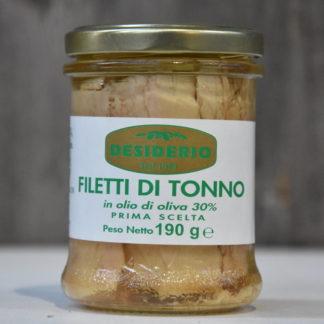 filetti di tonno olio desiderio