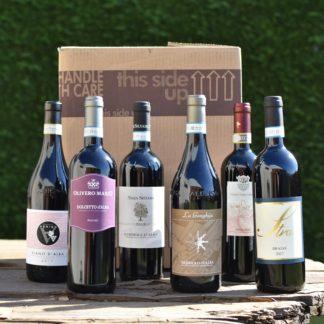 wijnpakket rode wijnen uit Piemonte