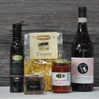 moerderdag pakket pasta en wijn