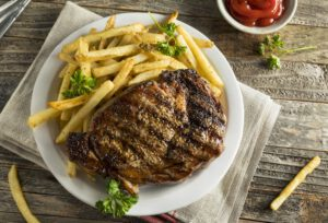 week biefstuk-friet